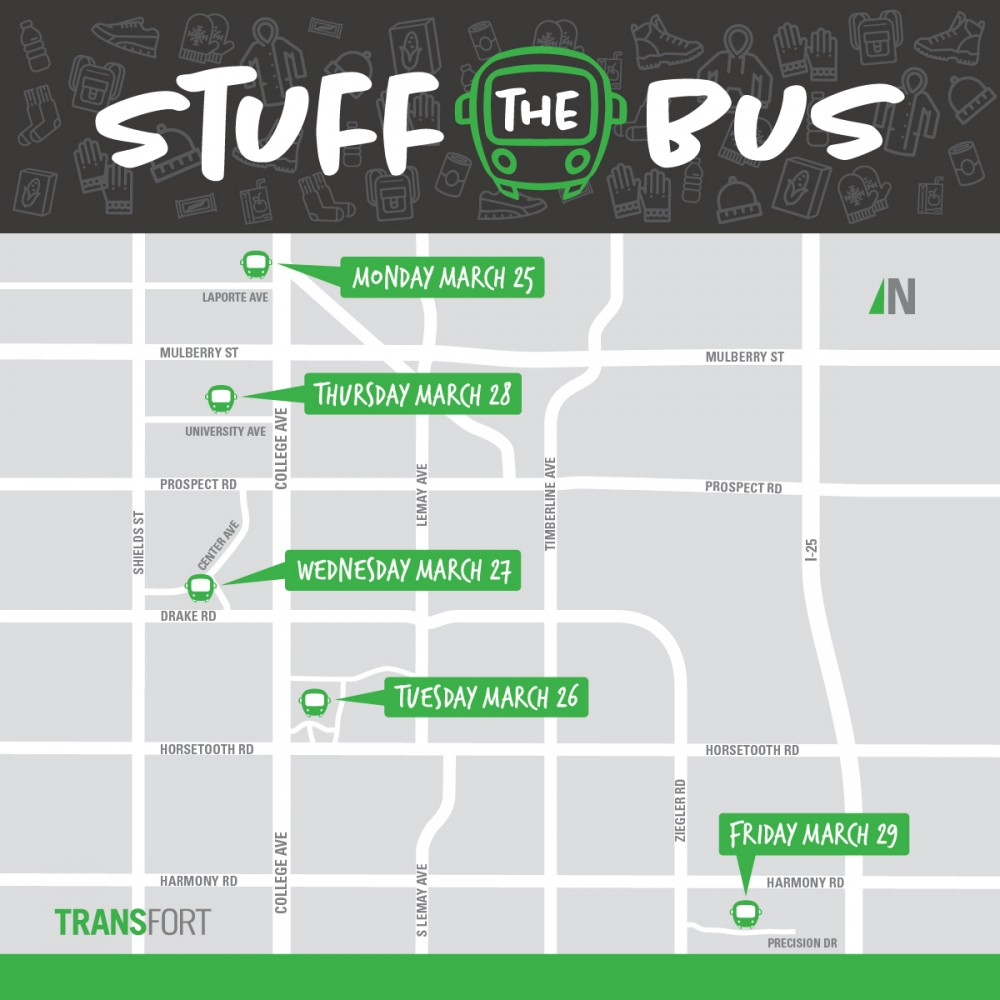 2019 Stuff the Bus locations